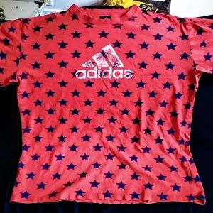 Adidas vintage t-shirt Star graphic 2X unique vint